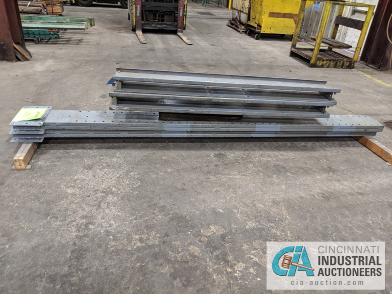 """SECTION DOUBLE SIDED CANTILEVER RACK, 142"""" TALL, (8) 36"""" ARMS - Image 3 of 4"""