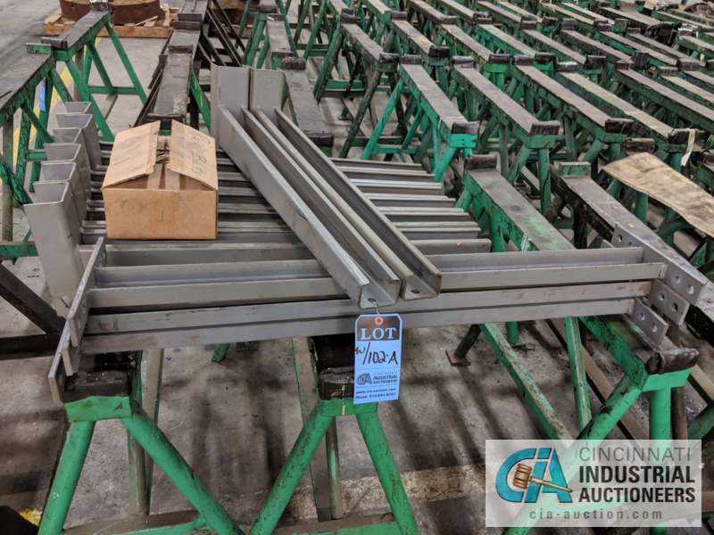 """SECTION DOUBLE SIDED CANTILEVER RACK, 142"""" TALL, (8) 36"""" ARMS - Image 2 of 4"""