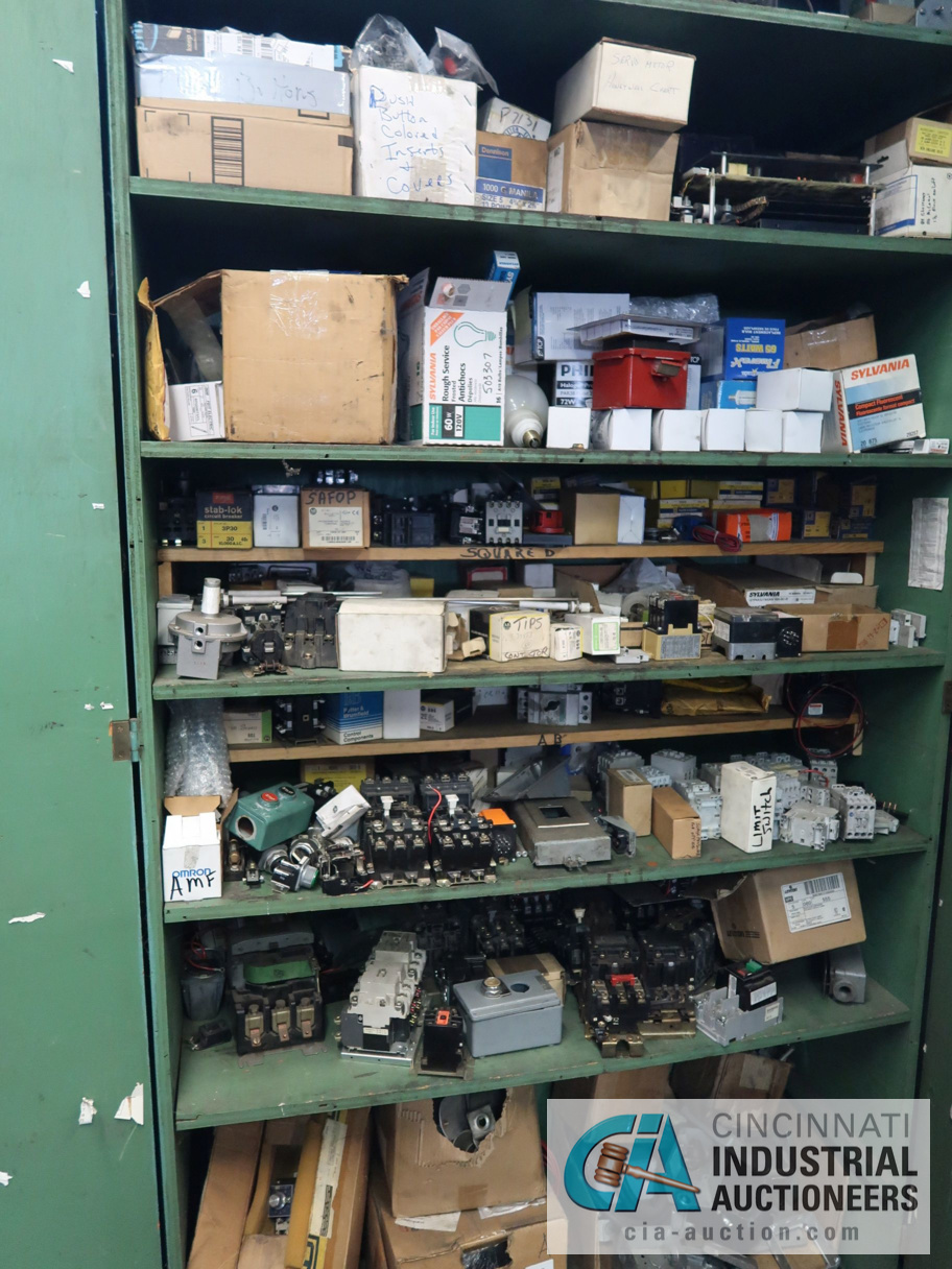 (LOT) CONTENTS OF MAINTENANCE ROOM, (10) CABINETS & SHELVES WITH BUILDING & MACHINE MAINTENANCE - Image 4 of 11