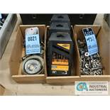 (LOT) (3) BOXES OF TOOLING INCLUDING HOLE SAWS, DRILLS & THREADING DIES