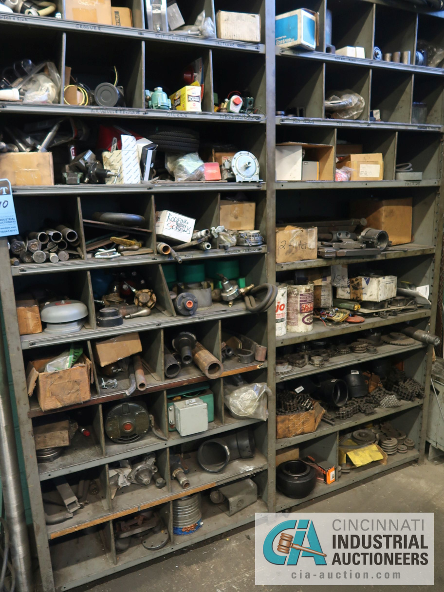 (LOT) CONTENTS OF MAINTENANCE ROOM, (10) CABINETS & SHELVES WITH BUILDING & MACHINE MAINTENANCE - Image 3 of 11