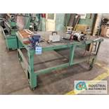 """54"""" X 72"""" PORTABLE STEEL TABLE WITH VISE"""