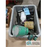 (LOT) MISC. PNEUMATIC TOOLS INDLUING SPRAYERS, DEBURRER