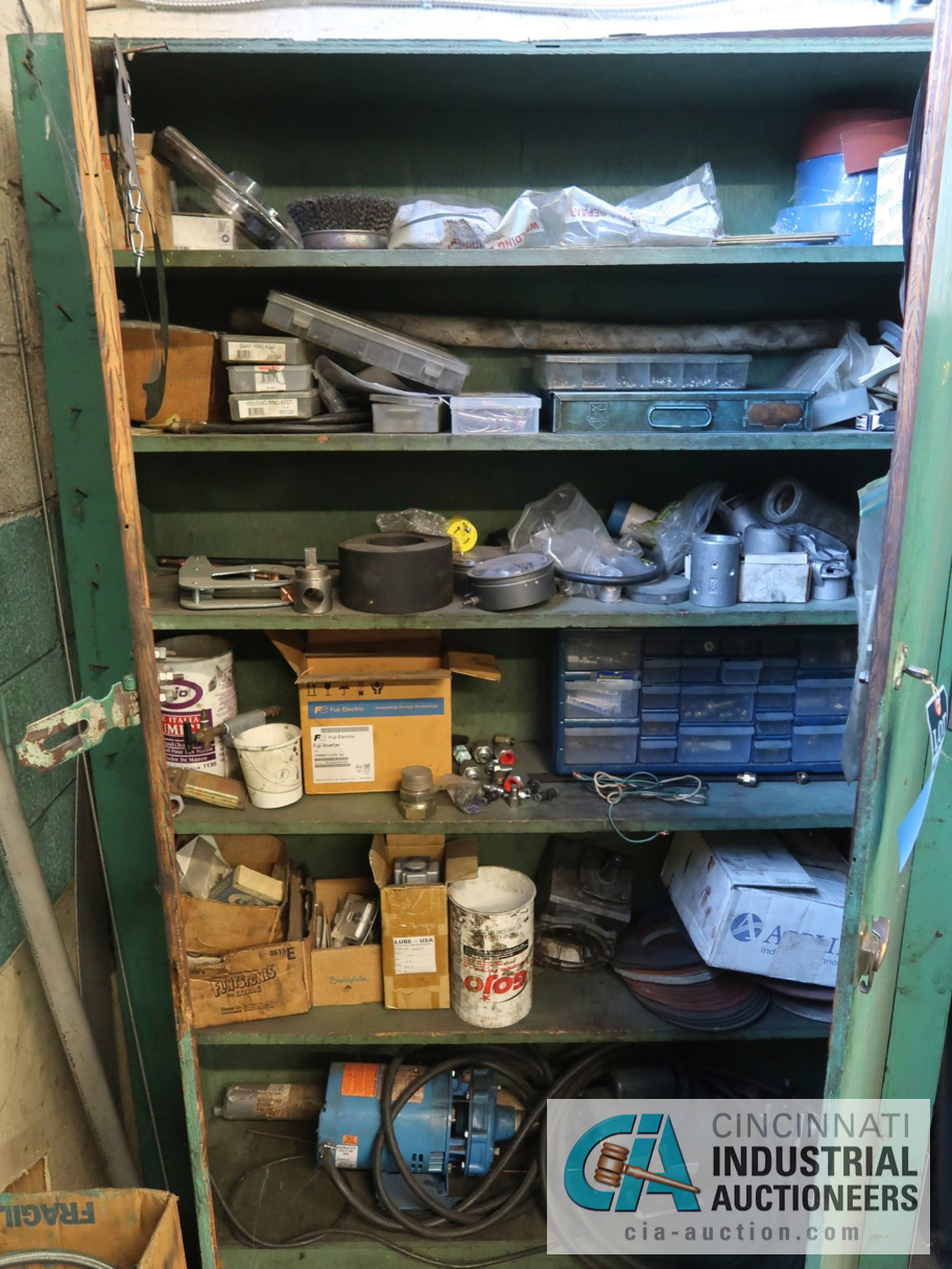 (LOT) CONTENTS OF MAINTENANCE ROOM, (10) CABINETS & SHELVES WITH BUILDING & MACHINE MAINTENANCE - Image 6 of 11
