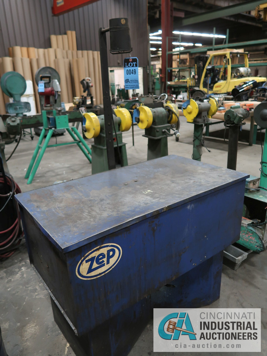 ZEP PARTS WASHER WITH NEW BARREL OF CLEANER