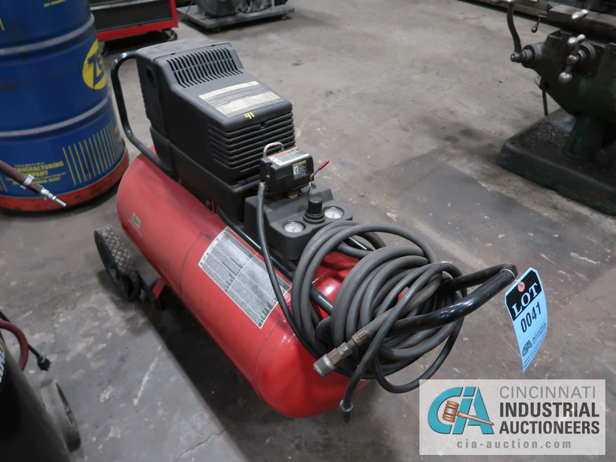 5.5 HP CRAFTSMAN HORIZONTAL TANK MOUNTED PORTABLE AIR COMPRESSOR, 30 GALLON TANK - Image 2 of 2
