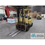 5000 LB HYSTER MODEL H50XM LP GAS PNEUMATIC TIRE LIFT TRUCK; S/N H177B4600009A, 610 MM, 2-STAGE MAST
