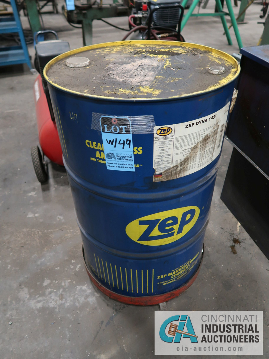 ZEP PARTS WASHER WITH NEW BARREL OF CLEANER - Image 2 of 2