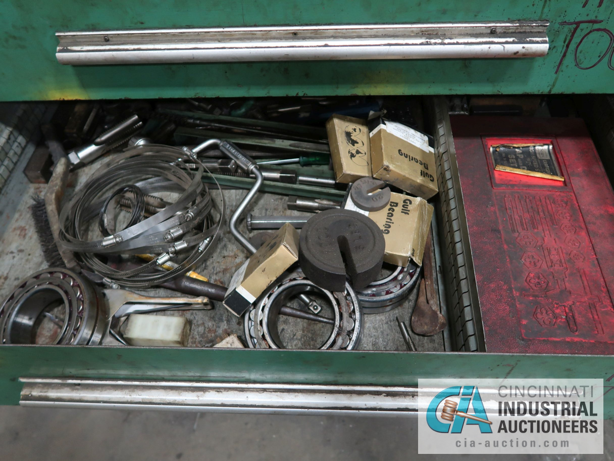 (LOT) (3) CABINETS INCLUDIG 7-DRAWER WITH MISC. HARDWARE & TOOLING & (2) FILE CABINETS - Image 2 of 3