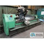 """24"""" X 10' SOUTH BEND ROLL GRINDER; S/N 36AM, 500 RPM, 12"""" 4-JAW CHUCK, TAILSTOCK, GRINDER ATTACHMENT"""