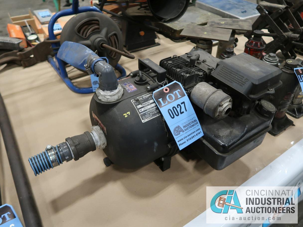 PACER PUMPS WATER PUMP WITH BRIGGS & STRATTON 3.5 HP GAS ENGINE