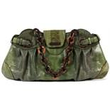 prada lizard-accented shoulder bag
