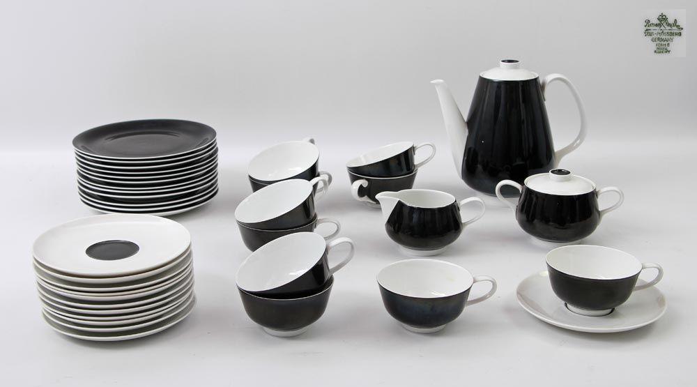 rosenthal design kaffeeservice 20 jh form e modell raymond loewy bestehend aus kaffeekann. Black Bedroom Furniture Sets. Home Design Ideas
