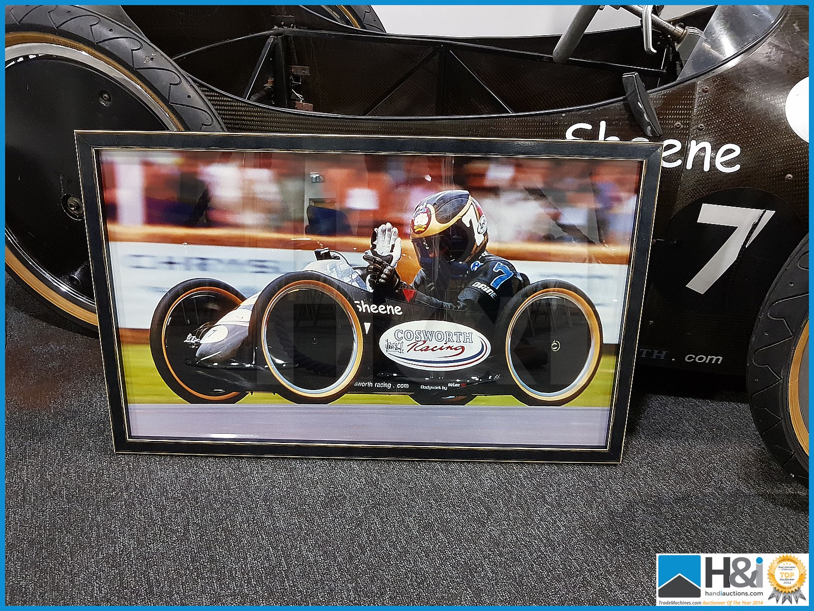 Lot 50 - Barry Sheene carbon fibre racer. The down hill racer was designed and built by a team from Cosworth