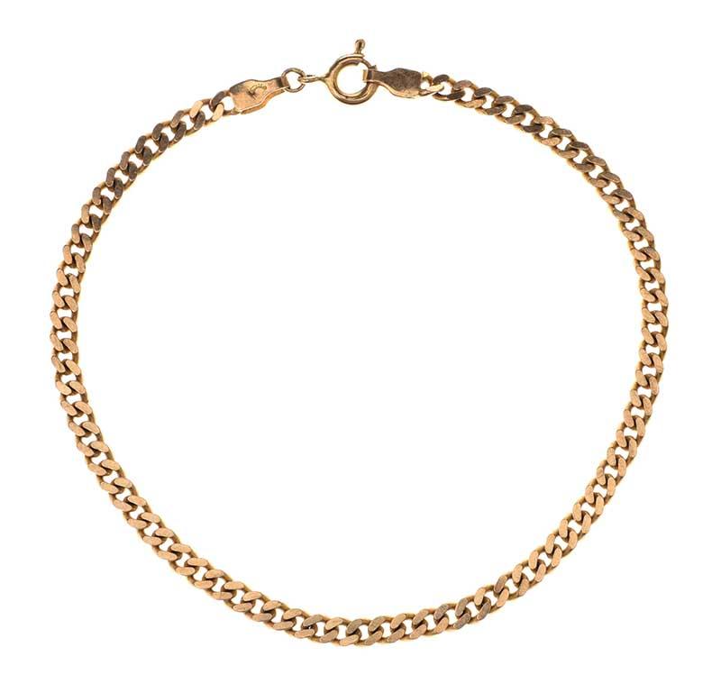 Lot 45 - FOUR 9CT GOLD BRACELETS 1 WITH 1 DIAMOND
