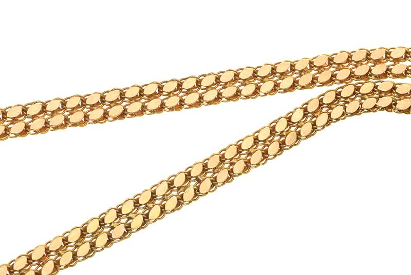 Lot 36 - 14CT GOLD DOUBLE LINK NECKLACE