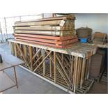 LOT - PALLET RACKING, DISASSEMBLED AND BANDED, (11) 12' UPRIGHTS, 8' BEAMS
