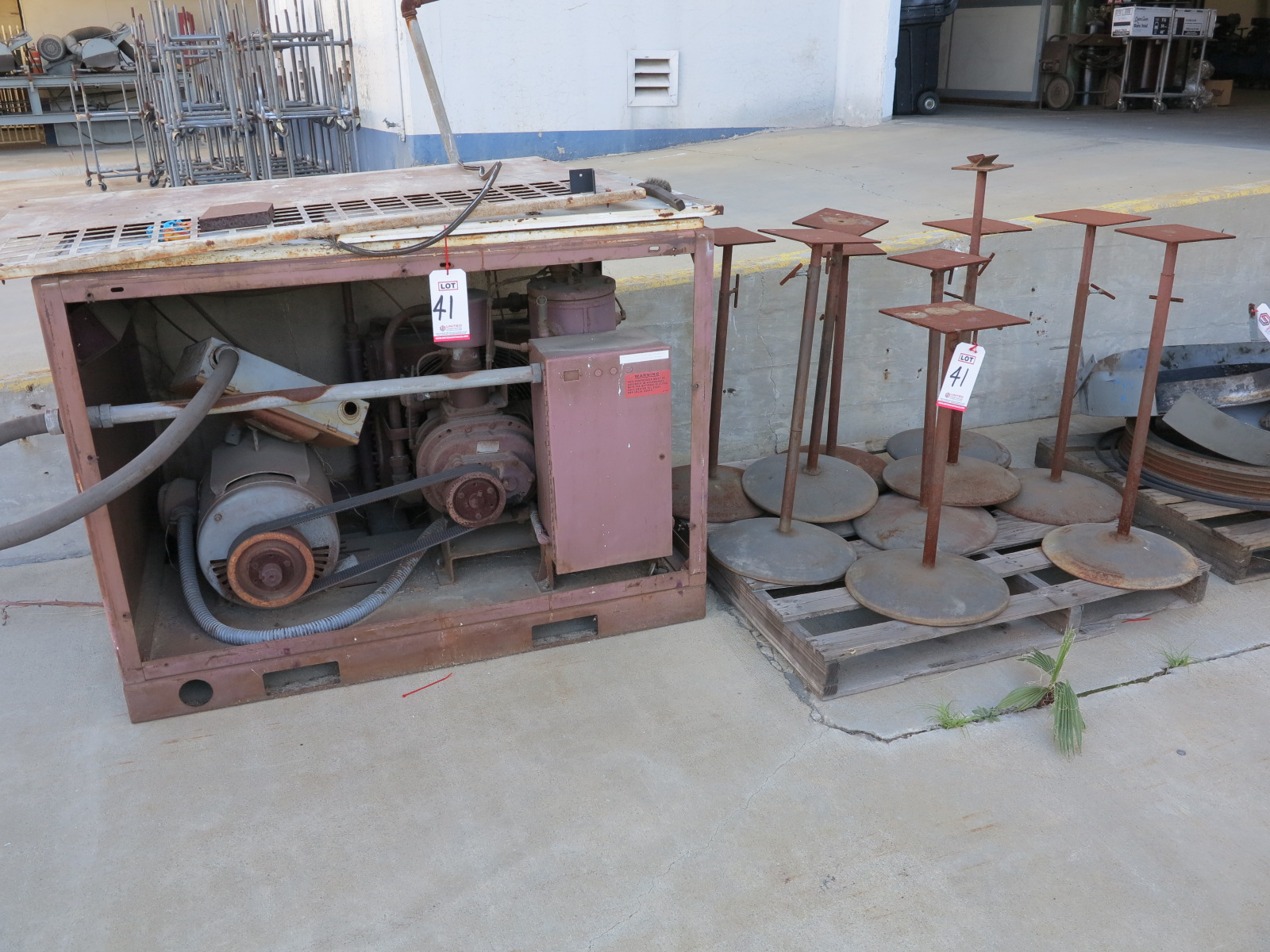 Lot 41 - LOT - MISC STEEL SCRAP TO INCLUDE OUT OF SERVICE AIR COMPRESSOR, ETC.