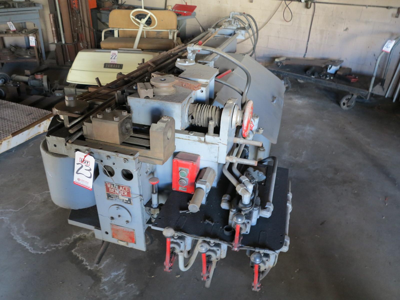 Lot 23 - WALLACE BENDER POWER BENDING MACHINE, MACHINE NO. 500-1, S/N 4059