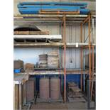 LOT - APPROX. 32' X 11' HT STEEL RACKING W/ CONTENTS