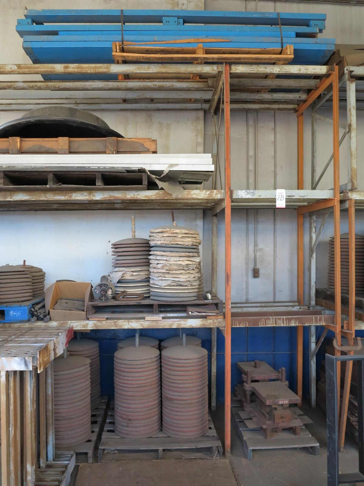 Lot 28 - LOT - APPROX. 32' X 11' HT STEEL RACKING W/ CONTENTS
