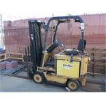 CATERPILLAR ELECTRIC FORKLIFT, MODEL M30D, 36 V, S/N 970151, 3-STAGE MAST, OUT OF SERVICE