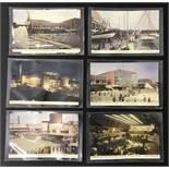 1951 FESTIVAL OF BRITAIN POSTCARDS 6 REAL COLOUR PHOTOGRAPHS JARROLD POSTCARDS SOUTHBANK EXHIBITION
