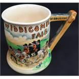 Antique Crown Devon Fielding Musical Tankard Widdecombe Fair