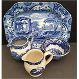 Antique & Vintage Blue & White China Includes Early Cup & Spode
