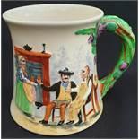 Antique Crown Devon Fielding Musical Tankard Auld Lang Syne