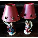 Decorative Pair of Angel Candle Holders