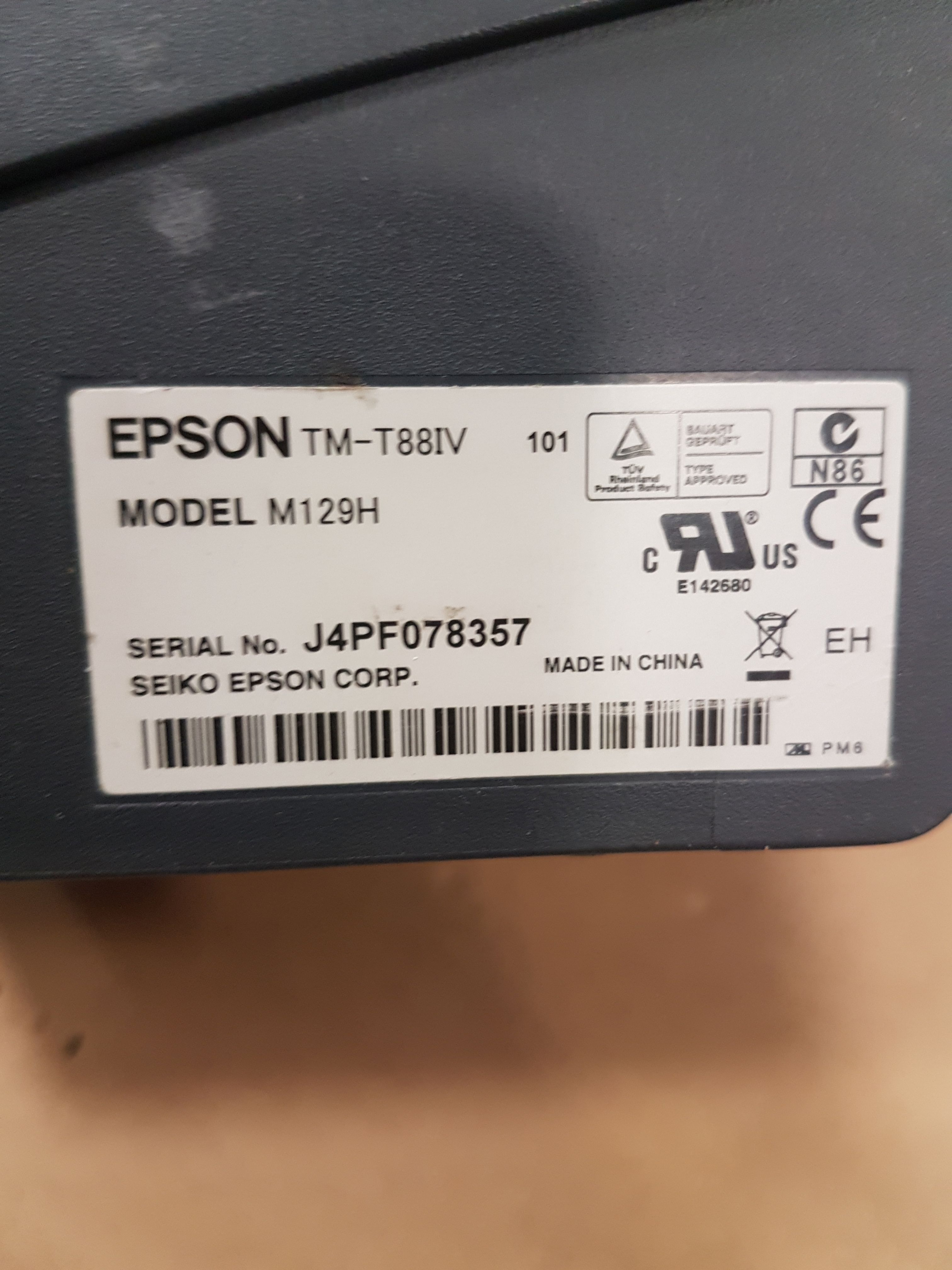 Lot 51 - Epson Thermal Printer - Model M129H