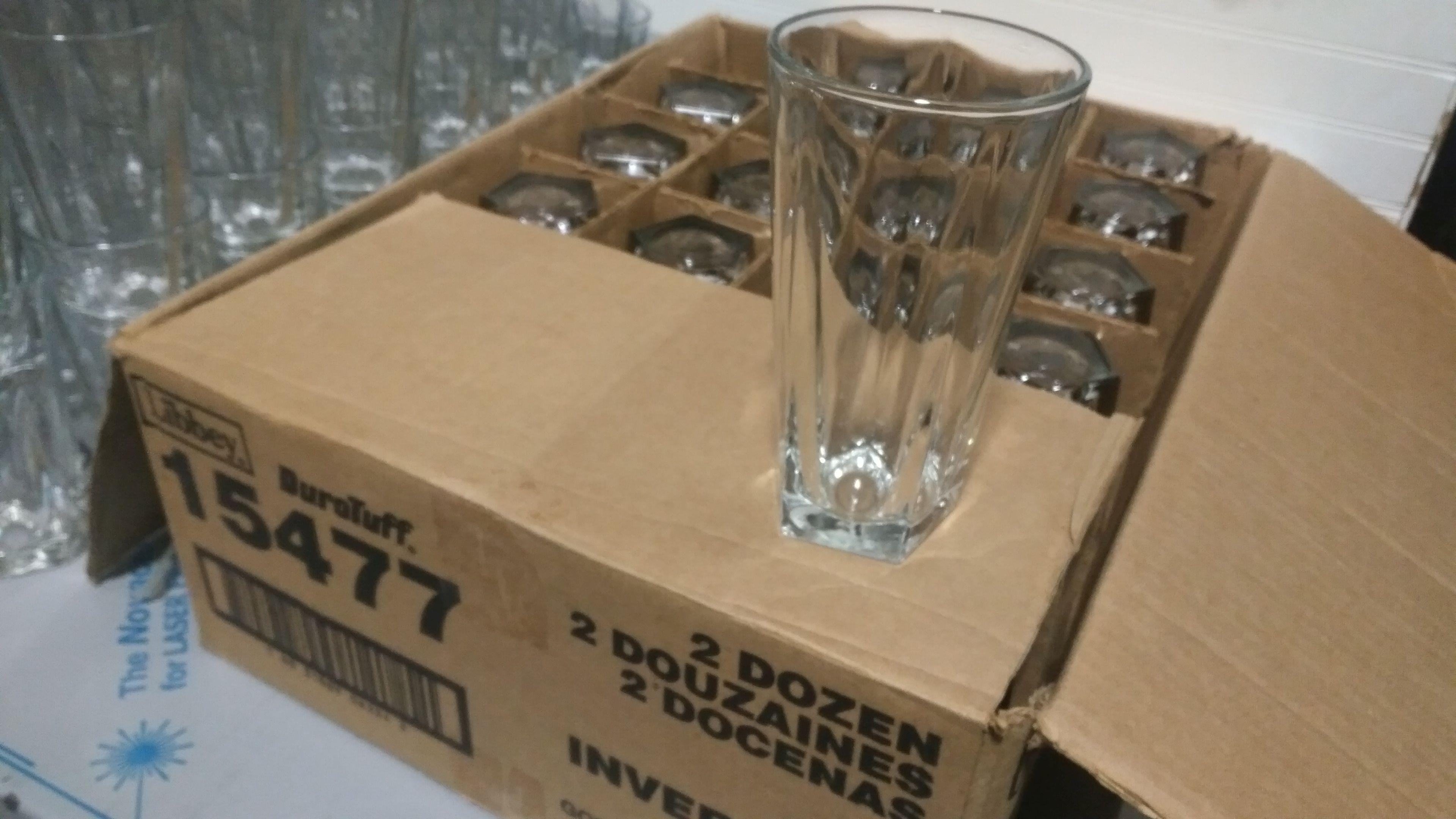 Lot 15 - Libbey 16oz DuraTuff Cooler Glasses - Lot of 24