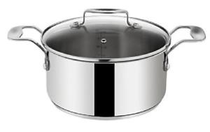 Lot 10056 - V Brand New Tefal Jamie Oliver Professional 6.7 Litre Stainless Steel Induction Cooking Pot With