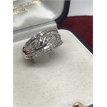 APPROX 1ct DIAMOND RING SET IN WHITE GOLD