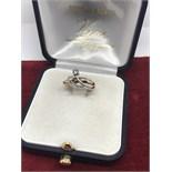 WHITE & YELLOW GOLD 2 STONE DIAMOND RING