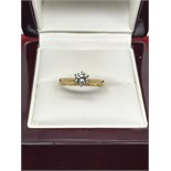 YELLOW GOLD 0.40ct DIAMOND SOLITAIRE RING