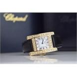 ❤ CHOPARD - DIAMOND 'H' / YOUR HOUR - 18K GOLD with DIAMOND SET CASE