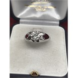 0.87ct DIAMOND SOLITAIRE RING SET IN 18ct WHITE GOLD