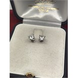 9ct GOLD 0.50ct DIAMOND EARRINGS WITH SCREWBACKS