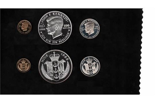 Niue Goldm252nze 9166 1000250 Dollar John F Kennedy