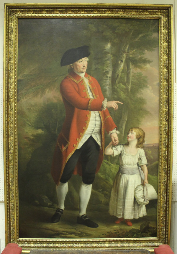 "Lot 19 - HUGH DOUGLAS HAMILTON (1740-1808) ""John Russell, 4th Duke of Bedford (1710-71) with his grandson,"