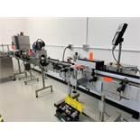 Line w/ Conveyor By CVC - CVC Wrap Around Labeler, Soft Pad Belt Wrap - Marburg CR-6000 Heat