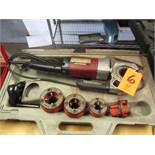Ridgid Model 600 Electric Hand-Held Power Drive Pipe Threader; with Case