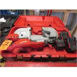 Milwaukee Model 0729-20 Battery Powered Portable Band Saw; with (3) V28 Lithium-Ion Batteries (No