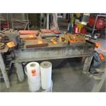 38 in. x 66 in. Heavy Duty Steel Work Bench (No Contents)