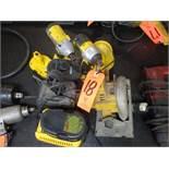 Lot - (1) DeWalt Model DW936 Battery Powered Circular Saw; (2) DeWalt Impact Drivers, Model