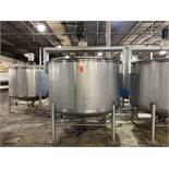 Walker 1,200 Gallon Cap. T-304 Stainless Steel Vertical Single Wall Tank, S/N: 1428-8915; with