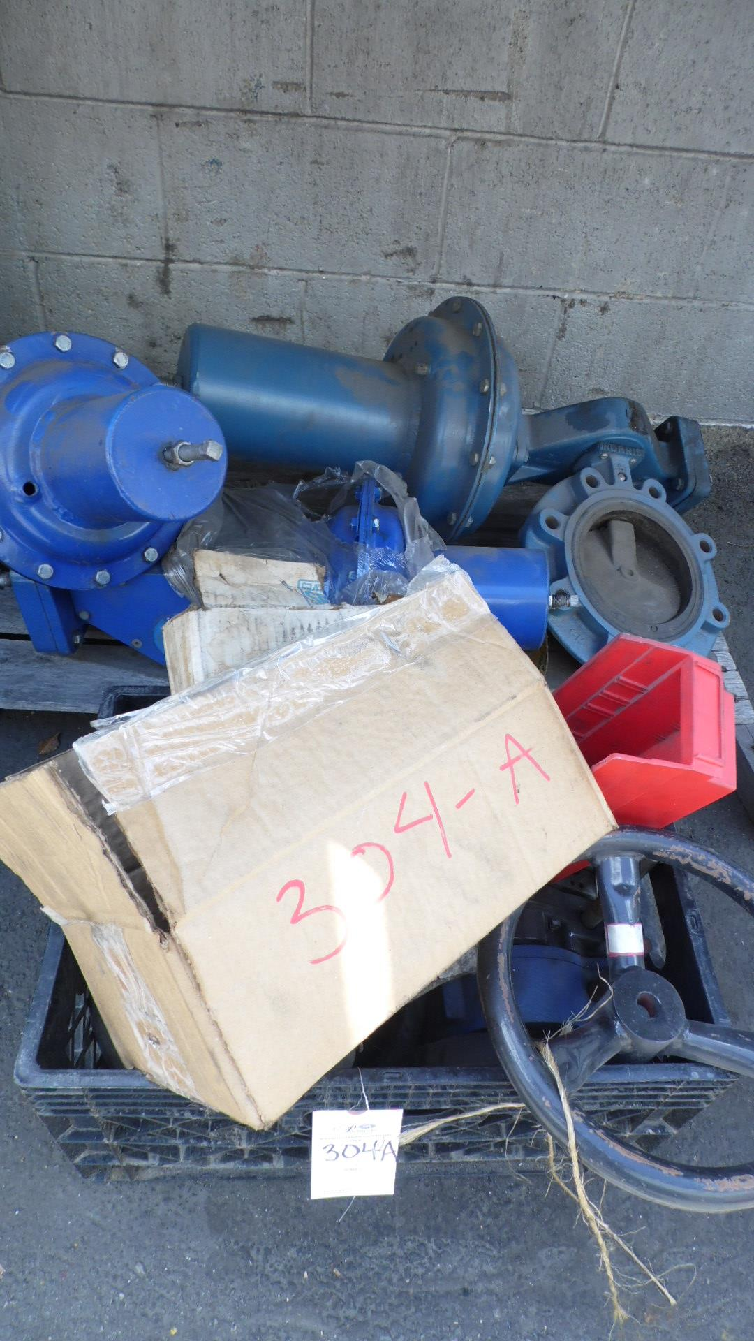 """Lot 304A - 1- 6"""" NORRIS BUTTERFLY w/ ACTUATOR, 1- 4"""" NORRISEAL BUTTERFLY w/ ACTUATOR,"""