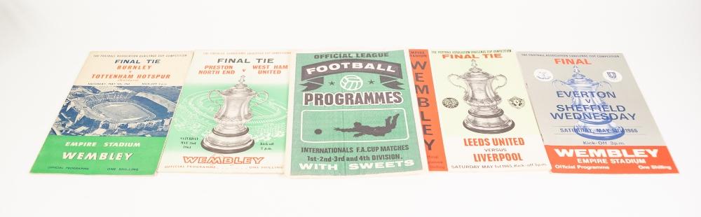 Lot 109 - FOUR FA CUP FINAL PROGRAMMES, Burnley v Spurs 1962, Preston v West Ham United 1964, Leeds v